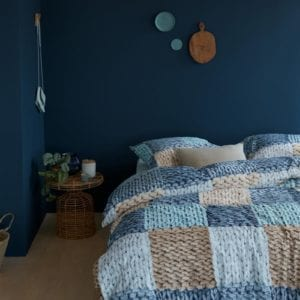 Ariadne At Home Wool Shades Dekbedovertrek - Blauw
