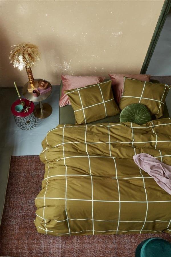 At Home by Beddinghouse Simple Dekbedovertrek - Oker