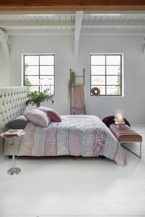 Rivièra Maison Fancy Bouclé Dekbedovertrek - Roze