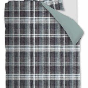Rivièra Maison Tartan Tweed Dekbedovertrek - Blauw
