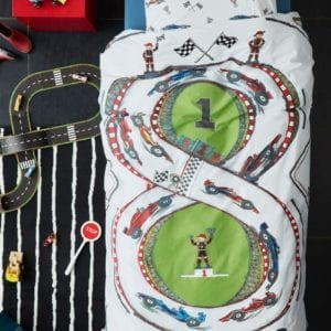 Beddinghouse Kids Race Track Dekbedovertrek - Multi