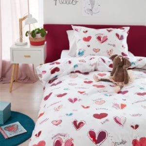 Beddinghouse Kids Sweet Love Dekbedovertrek - Roze