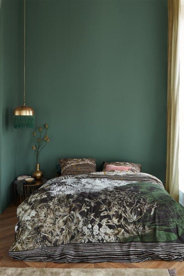 At Home by Beddinghouse Tales Dekbedovertrek - Zwart