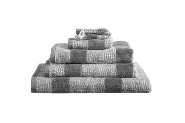 Beddinghouse Sheer Stripe set van 2 washandjes - Anthraciet