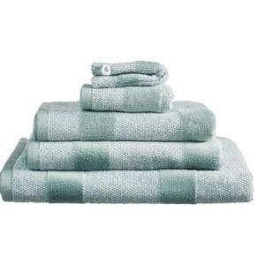 Beddinghouse Sheer Stripe Handdoek Large - Groen