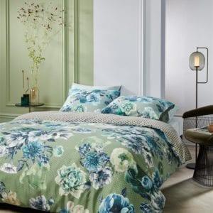 Kardol Ornate Dekbedovertrek - Blauwgroen