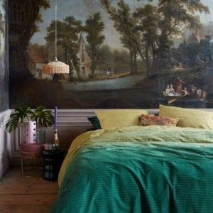 At Home by Beddinghouse Straight Dekbedovertrek - Oker