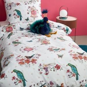 Beddinghouse Kids Sweet Birds Dekbedovertrek - Roze