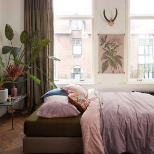 At Home by BeddingHouse All Lines Dekbedovertrek - Lila