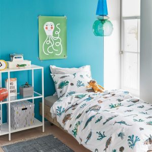 Beddinghouse Kids Deep in the Sea Dekbedovertrek - Blauw