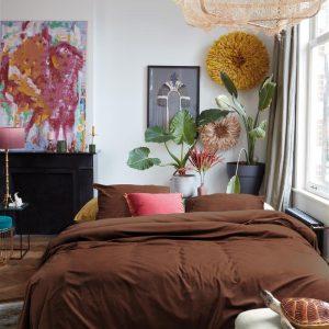 At Home by BeddingHouse Tender Dekbedovertrek - Bruin