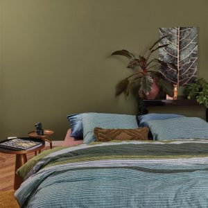 At Home by BeddingHouse Comprise Dekbedovertrek - Groen