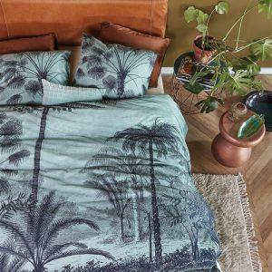 At Home by BeddingHouse Tour du Monde Dekbedovertrek - Blauw Groen