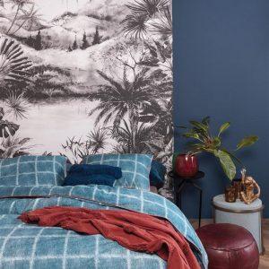 At Home by BeddingHouse Denim Dekbedovertrek - Blauw