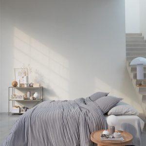 vtwonen Comfy Stripe Dekbedovertrek - Grijs