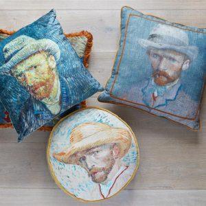 Beddinghouse x Van Gogh Museum Self Portrait Vincent Sierkussen - Blauw